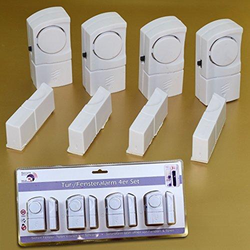 (184) Fenster und Tür Alarmsystem 4er Set mit 90dB Alarm System Sicherheitsset