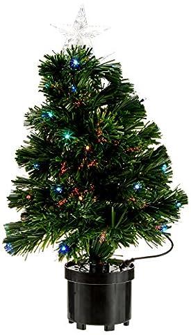 Um Mitternacht 5saf152mc Weihnachtsbaum Memphis Glasfaser mit 40Lichter LED Kunststoff/PVC Mehrfarbig