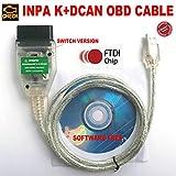 Inpa K DCAN OBD, Inpa K+Dcan OBD NCS Expert Rheingold Software Ediabas OBDII Inpa KDcan Kabel OBD2 Inpa K + DCAN Interface Code Scanner für E81,E82,E83,E87,E88,E46,E90,E91,E92,E93,E53,E60,E85,E86,E71