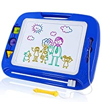 SGILE Large Magnetic Drawing Board - 41.5×31.5 cm Erasable Scribble Board Colorful Magna Doodle Writing Etch Sketch Pad Learning toys for Kids Children Toddlers,Blue