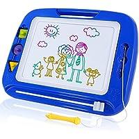 SGILE Pizarras Mágicas Multicolor con Pluma y Linda Sello Tablero de Dibujo Magnético Infantil Magnético Juguetes Educativos para Niños