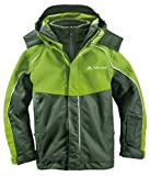 VAUDE Kinder Little Champion 3 in 1 Jacket, Thyme, 98, 01309