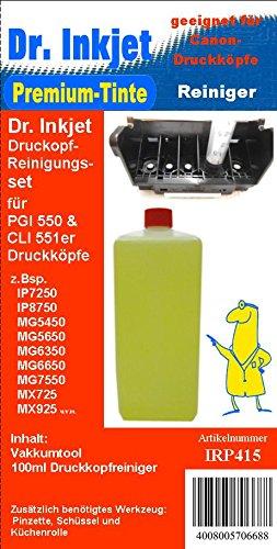 Preisvergleich Produktbild IRP415 - Düsenreiniger, Druckkopfreiniger - Dr.Inkjet Druckkopfreinigungsset für die Canon Drucker mit den PGI550 + CLI551er Druckerpatronen - IP7250, IP8750, IX6850, MG5450, MG5550, MG5650, MG6350, MG6450, MG6650, MG7150, MG7550, MX725, MX925