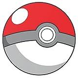 Feeby Frames, décoration murale Tableau, tableau déco, rond, impression sur panneau, Tondo Photo, diamètre 40, 60, 80cm, Teenage, Pokémon, Pokeball, Rouge, Blanc, boule
