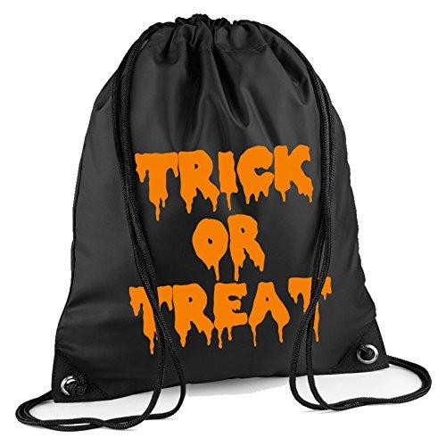 Trick Or Treat Halloween Kordelzug Tasche Rucksack Wasserdicht Sweet Turnbeutel PE Duffle Schule Kinder Jungen Mädchen Zug Sack, ()