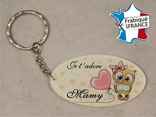 Porte Clef - Mamy je t'adore (Cadeau fête des grands mères, anniversaire, noël pour Mamie, annonce de naissance …)