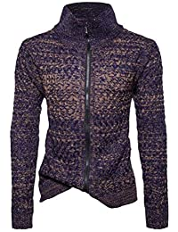 Laisla fashion Hombres Unisex Adolescentes Zip Up Cardigans Punto Jacket Sweater Escudo Soft Clásico Touch Graduación
