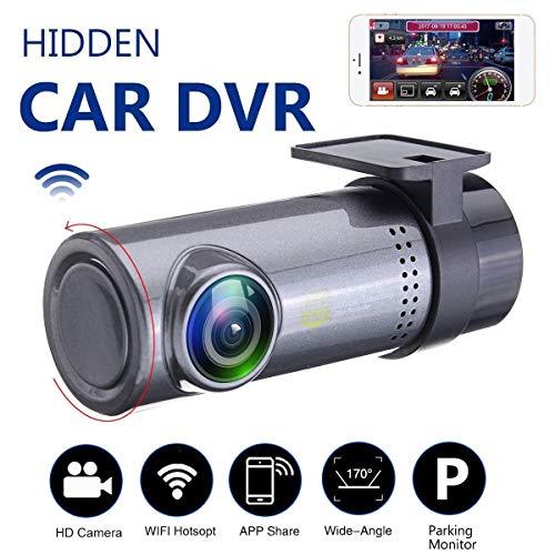 Auto versteckte Kameras 720P HD WiFi DVR Video Dash Cam Recorder Nachtsicht ()