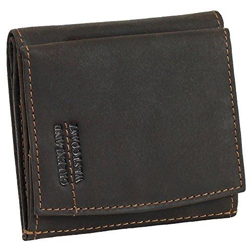 Luxus Herren & Damen Wiener Schachtel Mini Geldbörse Geldbeutel Portemonnaie braun echt Leder - Greenland Nature Westcoast