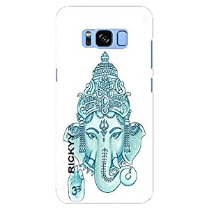 RICKYY Blue Head Ganesh design printed matte finish back case cover for Samsung Galaxy S8