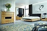 Schlafzimmer Komplett - Set J Topusko, 5-teilig, teilmassiv, Farbe: Eiche / Schwarz