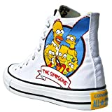 Converse All Stars Chuck Taylor Color: Blau, Gelb, Weiss THE SIMPSONS 146809 BART SIMPSON Gr: EU: 41,5 UK: 8 Limited Edition