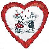 Disney Mickey und Minnie Liebe holographischen Standard Folie Ballon, unbefüllt