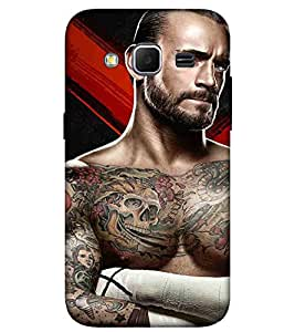 For Samsung Galaxy Core Prime :: Samsung Galaxy Core Prime G360 :: Samsung Galaxy Core Prime Value Edition G361 :: Samsung Galaxy Win 2 Duos Tv G360Bt :: Samsung Galaxy Core Prime Duos angry man, tatoo man, man, abstract Designer Printed High Quality Smooth Matte Protective Mobile Case Back Pouch Cover by APEX