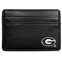 NCAA Georgia Bulldogs Leather Weekend Wallet, Black
