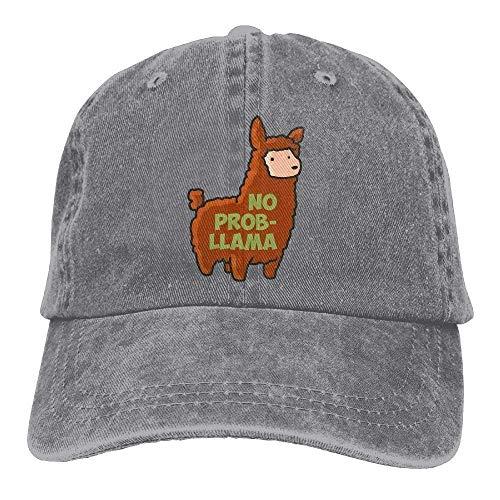 GHEDPO Prob Llama Denim Baseball Caps Hat Adjustable Cotton Sport Strap Cap for Men ()