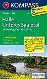 Halle - Unteres Saaletal - Mittelelbe - Dessau - Roßlau: Wanderkarte mit Kurzführer und Radwegen. GPS-genau. 1:50000 (KOMPASS-Wanderkarten, Band 458)