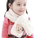 pour 1-6 ans bébé, Amlaiworld Porter des foulards collier motif velours corail écharpe (Blanc)