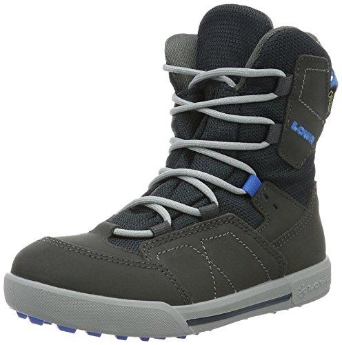 Lowa Raik Gtx Mid, Chaussures de Randonnée Hautes Mixte Enfant, Rot, Taille Unique Gris (Anthrazit/blau_anthracite/blue)