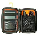 Garmin Sat Nav Carry Case fits all 5-inch Garmin Drive 51LMT-S D 40LM DriveSmart 50LM Zumo 345LM 395LM Dezl 580 LMT-D Nuvi 57LM Orange/Black