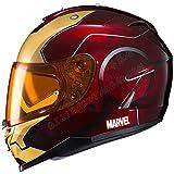 Casque de Moto à Double lentille Marvel Iron Man, Casque Complet rétro Locomotive...