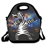 Zebra Hip Hop Lunch Tote Bag Bags Awesome Lunch Handbag Lunchbox Box For