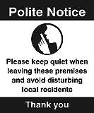 Caledonia Schilder 27105h Zeichen, Polite NOTICE Bitte Keep leise beim Verlassen