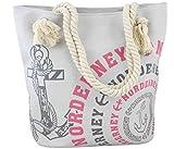 Sonia Originelli City Shopper Norderney Einkaufstasche Tasche Bag Farbe Grau-Rosa