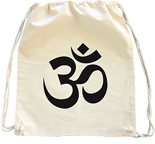 Mister Merchandise Turnbeutel natur Rucksack Om Hindu Yoga , Farbe: Natur