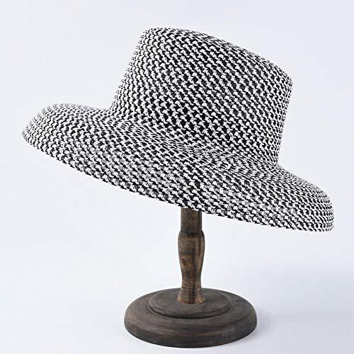 Sonnenhüte für Damen Hüte für Herren Sonnenschutz Sonnenhut Sommer Strohhut Wind Sonnenschutz Badeurlaub elegant French @ White White French Hut