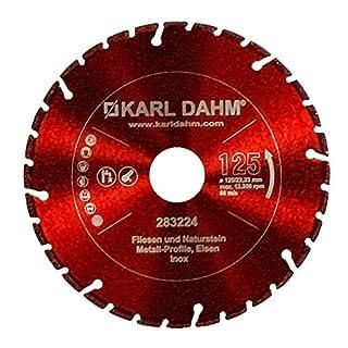 Karl Dahm Profi Diamant Trennscheibe ALLROUNDER 125 mm Fliese-Metall-Edelstahl 50048-125x 22,23 mm