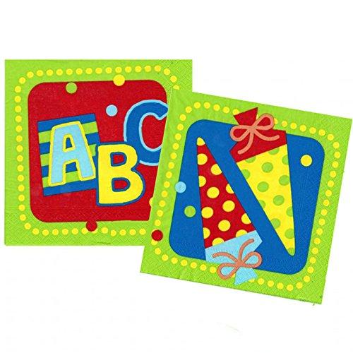 1. Schultag - Dekoset Einschulung - Servietten, Luftballons & Konfetti ABC - 2