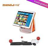 ZHONGJI AP6000 All Dans un seul point de vente caisse enregistreuse système 15.5 '' écran tactile, pour restaurants d'affaires, commerce de détail