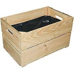 pera Caja de 2Tabla de interior foliert xxxzum bepflanzenxxx/Macetero cajón-estantería Caja de madera Mini Bancal aus dem Alten Land-Caja Modelo CA 49x 30x 28cmxxx