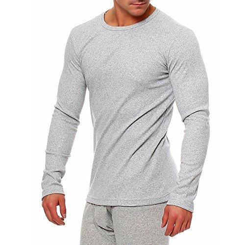 2da uomo uomini biancheria intima termica camicia a maniche lunghe confezione da 2blu scuro invernale bianco bianco grigio chiaro lunghezza maniche colore antracite Grigio chiaro