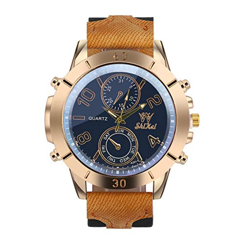 YULINGSTYLE Geben Sie Ihrem Vater die Beste Geschenkuhr Herrenuhr Business Große Zifferblatt Uhr Mode Quarz Silikagel Uhr Bunte Uhren