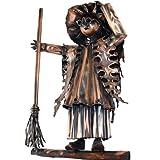 Kupferfigur Hexe für die Dachrinne, 40 cm