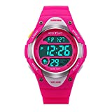 SKMEI Girls Pink Digital Watch 50m Water Resistant With Stopwatch Alarm Perfect For