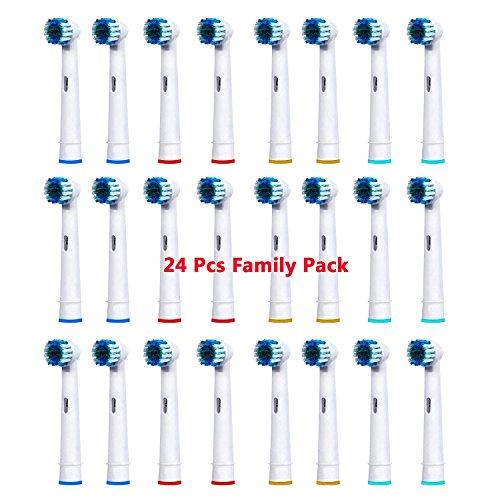 PEPECARE Aufsteckbürsten Ersatzzahnbürsten elektrische Zahnbürsten kompatibel für Braun Oral-B, für schwer erreichbare Bereiche, 24er-Pack