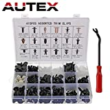 Autex da 415 rivetti di fissaggio in plastica per auto, set di staffe e paraurti con pinze di fissaggio