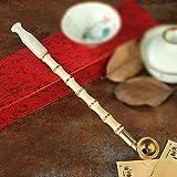 Liuyu · Lebendes Haus Tabakpfeife Tobacco Bags Bambus Rauchstange Messing Smoke Pot Jade Zigarettenspitze Pfeife 25cm ( Farbe : Filter dual-use type )