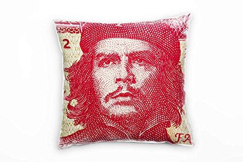 Paul Sinus Art Macro, Kuba, Geld, Rot, Beige Deko Kissen 40x40cm für Couch Sofa Lounge Zierkissen -...
