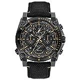 Bulova Mens Chronograph Quartz Watch with Nylon Strap 98B318