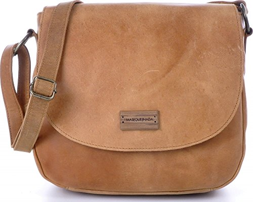 - 51KOOyaHrmL - MASQUENADA, Cntmp, Women's Cross Body Bags, Saddle-Bags, Crossover-Bags, Crossbags, Handbags, Shoulderbags, Natural Leather, Leather, Cognac, 26x22x8cm (W x H x D)