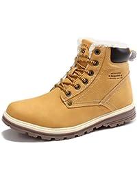 Sixspace Herren Schneestiefel Winterstiefel Warm Gefütterte Winterschuhe Stiefelette outdoor Boots