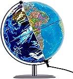 Autoks Mappamondo Luminoso Rotante Illuminato, Globo interattivo interattivo 3 in 1 Earth Earth per Bambini | Lampada a LED a Luce Notturna, Mappa Politica e Vista della Costellazione