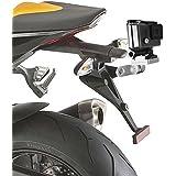 First2savvv GO-MTC2-B16 Aluminio Moto del coche del vehículo Placa Montar adaptador para Gopro Hero 4. Hero 3+.Hero4 Session.Hero3. Hero 2. Hero 1.Xiaomi Yi 2. SJCAM SJ5000. SJ4000.SJ6000 plata
