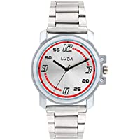 LUBA Fastrack Analogue Red and Silver Dial Men's Watch