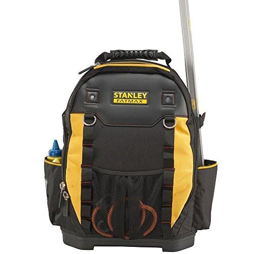 Stanley Werkzeugrucksack (36 x 46 x 27 cm, mit Taschen für Werkzeug, Zubehör, Laptop, Netzfach, robustes Denier Nylon, ergonomische Rücken- und Schulterpolsterung) 1-95-611