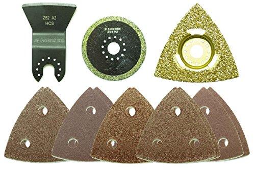 Preisvergleich Produktbild Parkside® Multifunktionswerkzeug Zubehör Set PMFWZA 3 A1 13-teilig - Badsanierung
